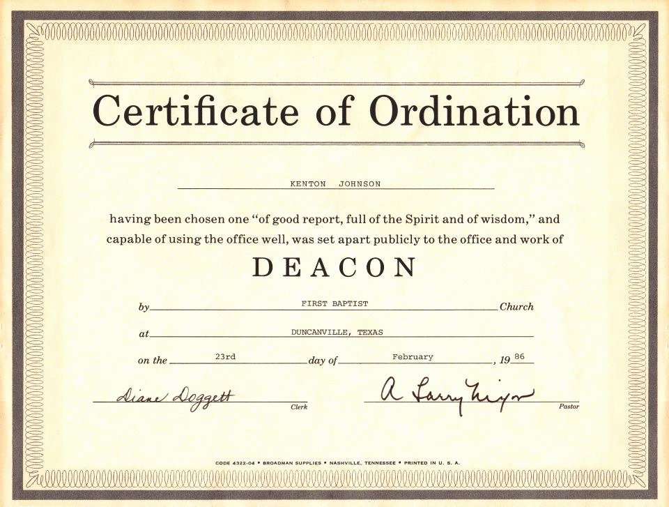 Free Printable ordination Certificate Luxury Certificates Licenses Etc