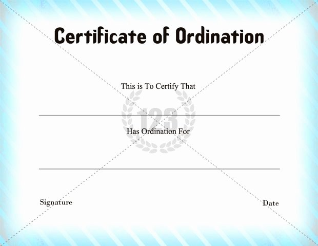 Free Printable ordination Certificate Unique Certificate Of ordination Template Download