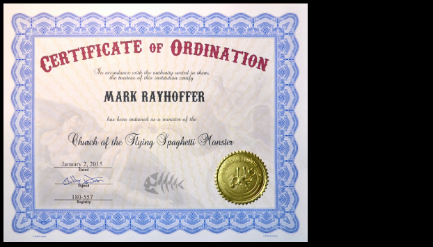 Free Printable ordination Certificate Unique Church Of the Flying Spaghetti Monster Certificates Of