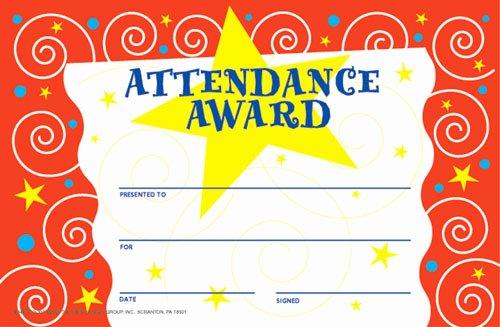 Free Printable Perfect attendance Award Certificates Unique Print Perfect attendance Award Certificate