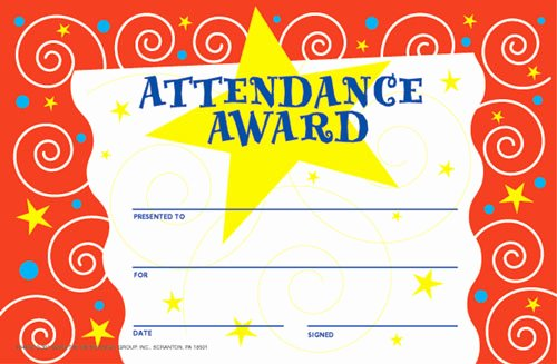 Free Printable Perfect attendance Certificates Luxury Print Perfect attendance Award Certificate