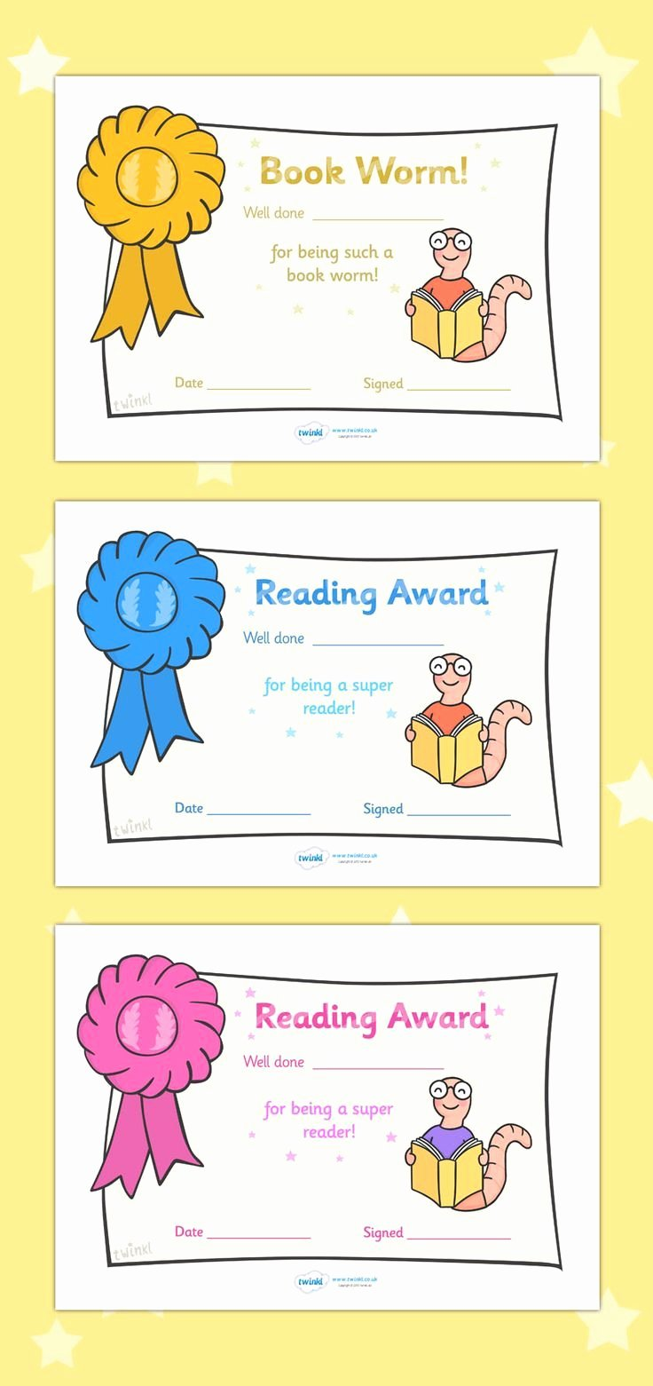 Free Printable Reading Certificates Awesome Free Printable Editable Reading Award Certificates