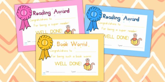 Free Printable Reading Certificates Best Of Free Editable Reading Award Certificates Reading
