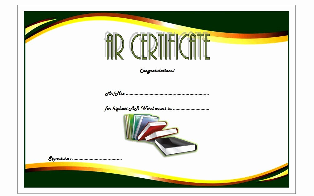 Free Printable Reading Certificates Fresh Accelerated Reader Certificate 7 Template Ideas