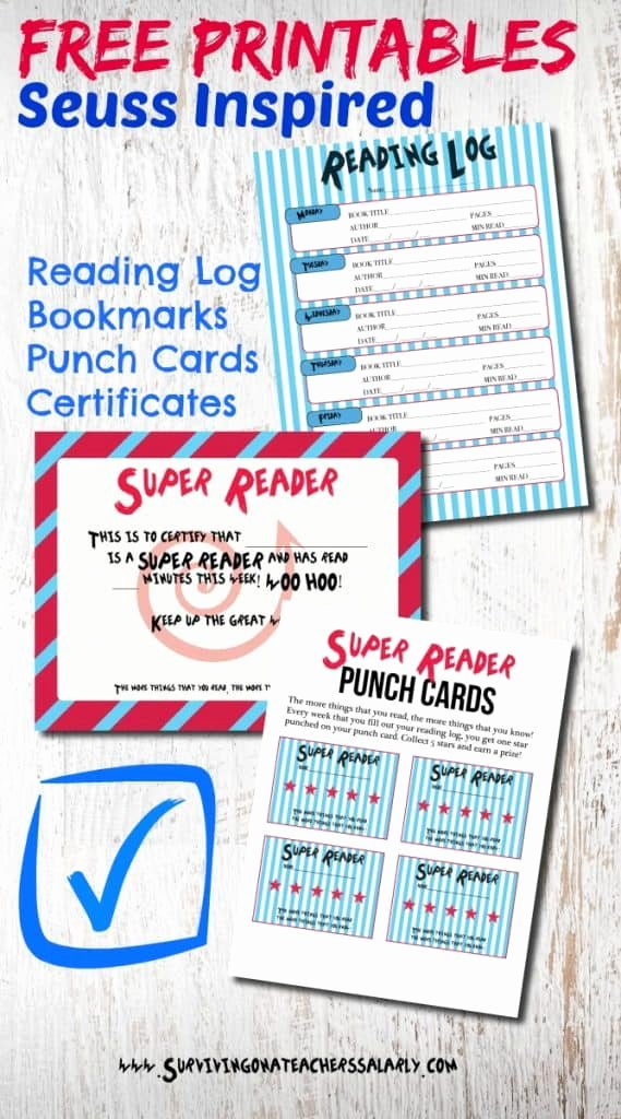 Free Printable Reading Certificates Luxury Dr Seuss Printable Reading Log Bookmarks and Award