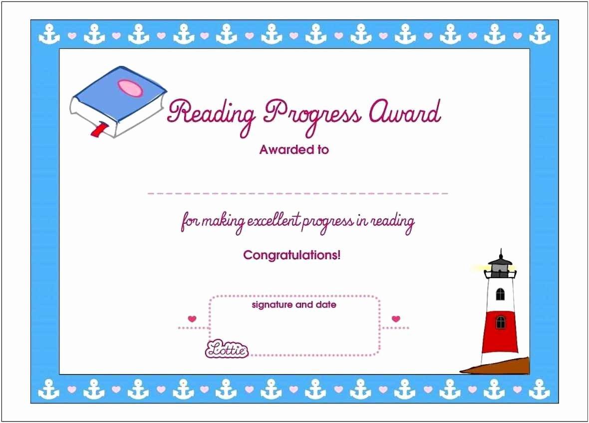 Free Printable Reading Certificates New Free Printable Reading Certificates Template Update234