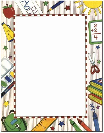 Free Printable School Borders Luxury Grade School Letterhead 25 or 100 Sheet Packs Laser