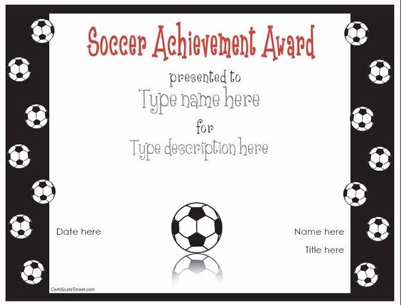 Free Printable soccer Awards Elegant Free Printable Award Certificate Template