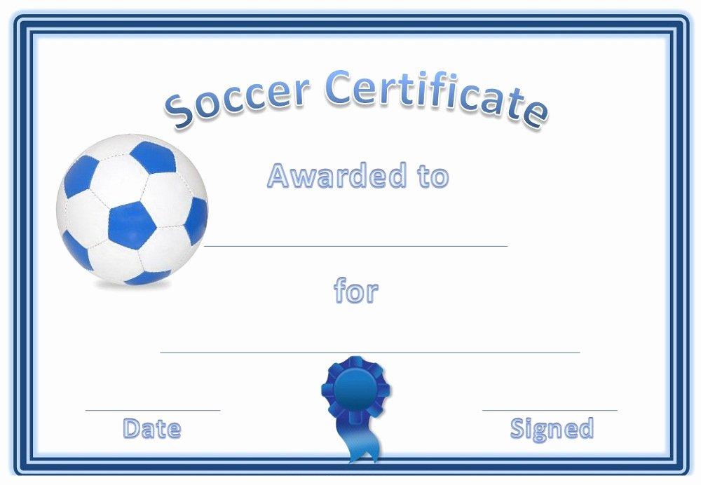 Free Printable soccer Awards Luxury soccer Award Certificates