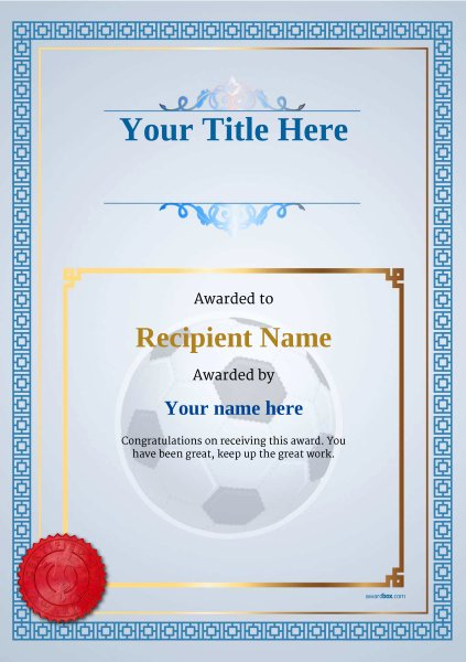 Free Printable soccer Certificates Beautiful Free soccer Certificate Templates Add Printable Badges