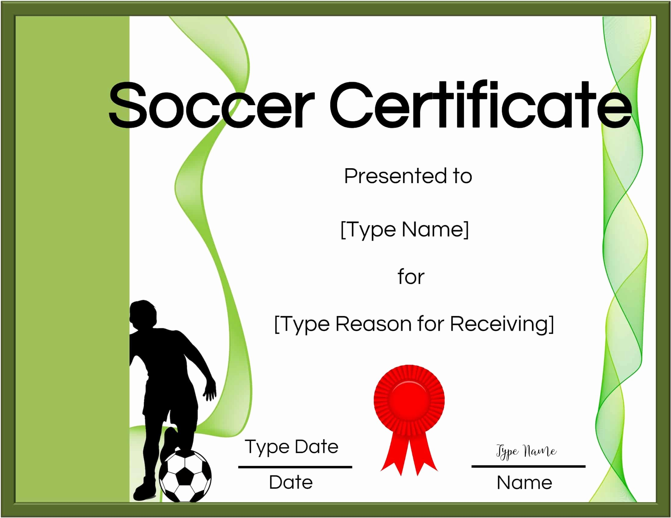 Free Printable soccer Certificates Elegant Free soccer Certificate Maker