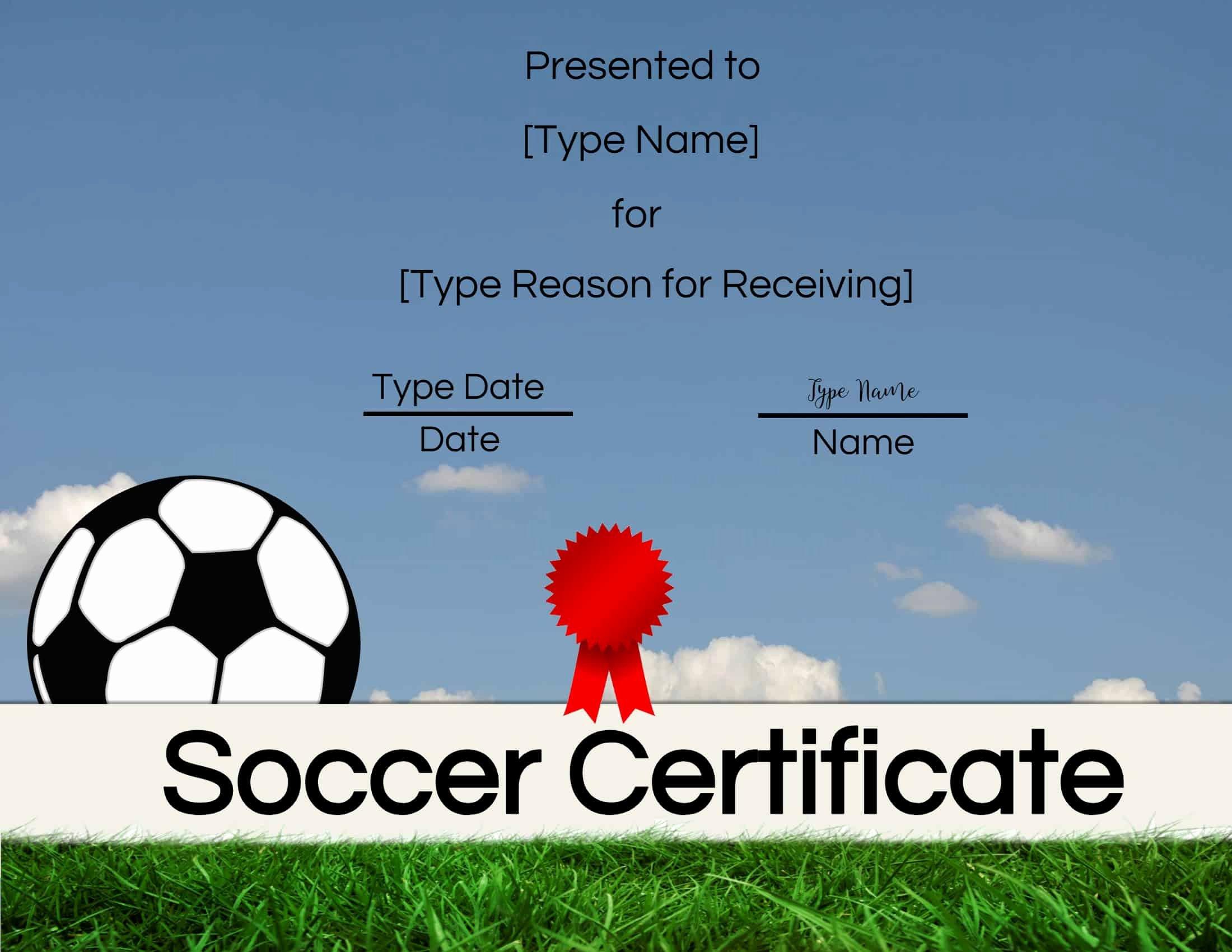 Free Printable soccer Certificates Luxury Free soccer Certificate Maker