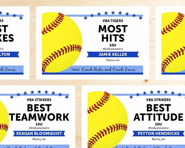Free Printable softball Certificates Awesome 10 Participation for Sports Certificate Templates Psd