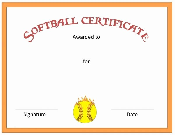 Free Printable softball Certificates Best Of Free softball Certificate Templates Customize Line
