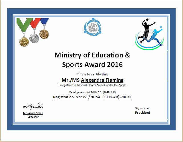 Free Printable softball Certificates Inspirational Sports Certificate Template
