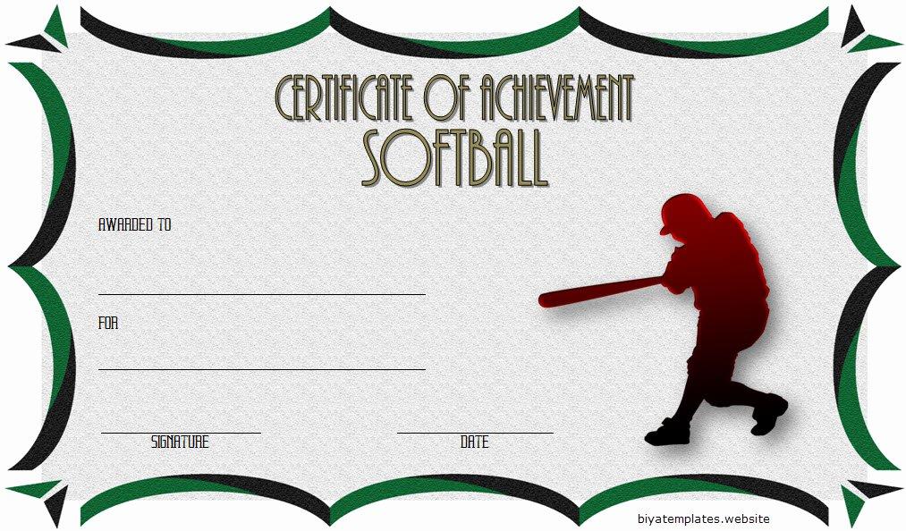 printable softball certificate templates