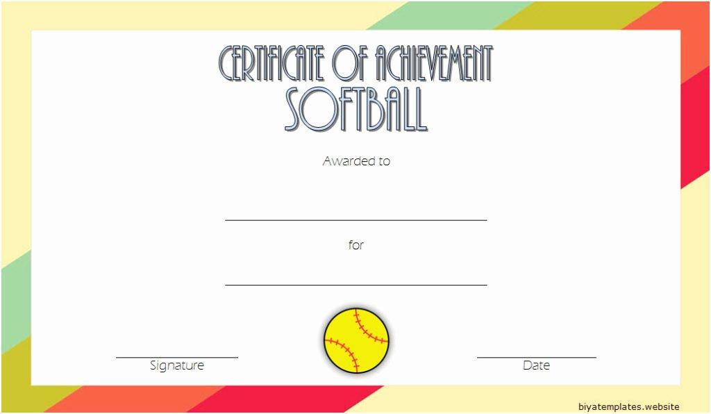 Free Printable softball Certificates Luxury Printable softball Certificate Templates [10 Best Designs