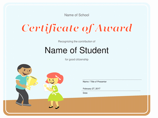 Free Printable Student Of the Month Certificate Templates Fresh Certificates Fice