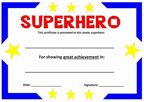 Free Printable Superhero Certificates Awesome Superheroes Teaching Resources Literacy Display Eyfs Key