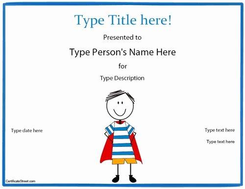 Free Printable Superhero Certificates Elegant Blank Certificate Hero Award Certificate Template