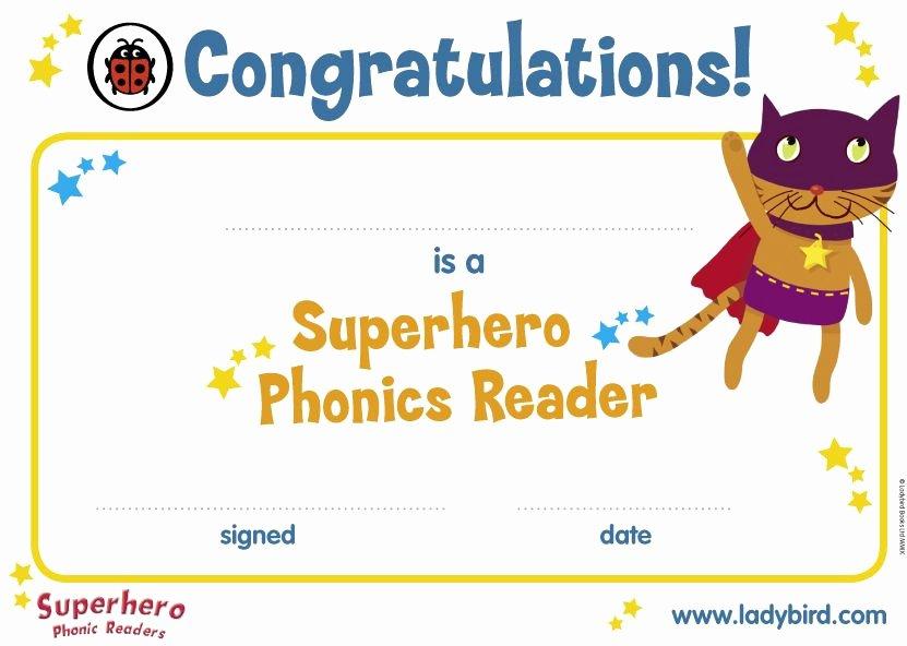 Free Printable Superhero Certificates Elegant Superhero Phonics Certificate Classroom