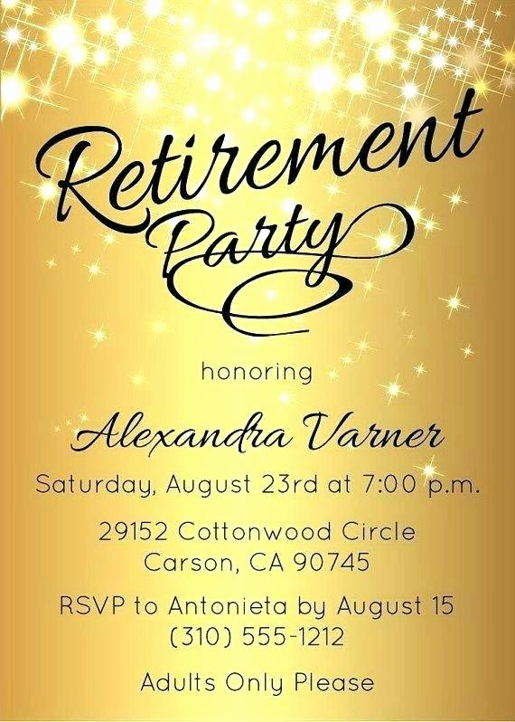 Free Retirement Party Invitation Templates for Word Awesome Retirement Party Flyer Template Free Cti Advertising
