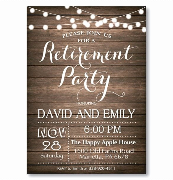 Free Retirement Party Invitation Templates for Word Awesome Retirement Party Invitation Templates