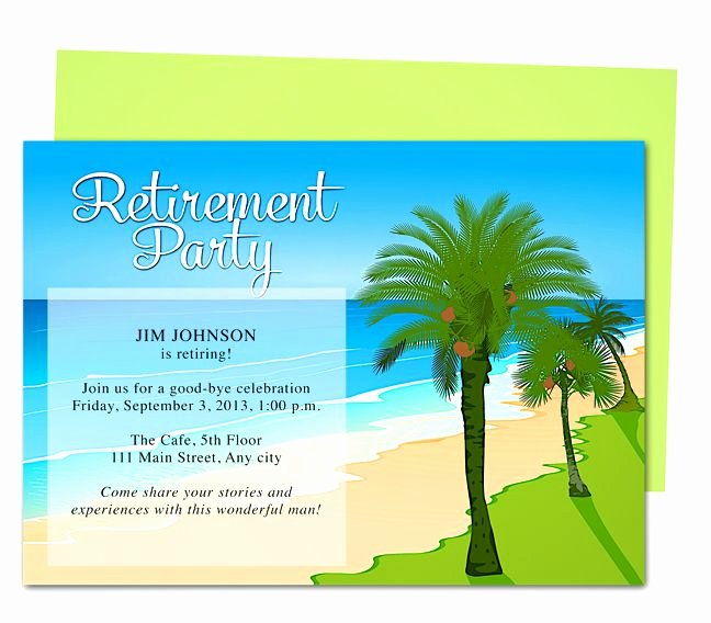 Free Retirement Party Invitation Templates for Word Best Of Tropical Oasis Retirement Party Invitation Templates Use