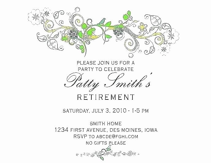 Free Retirement Party Invitation Templates for Word Fresh Retirement Party Invitation Template Free