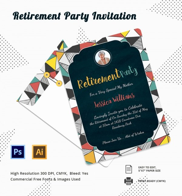 Free Retirement Party Invitation Templates for Word Inspirational Free 17 Retirement Party Invitations In Illustrator