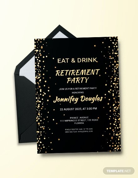 Free Retirement Party Invitation Templates for Word Inspirational Free Surprise Retirement Party Invitation Template
