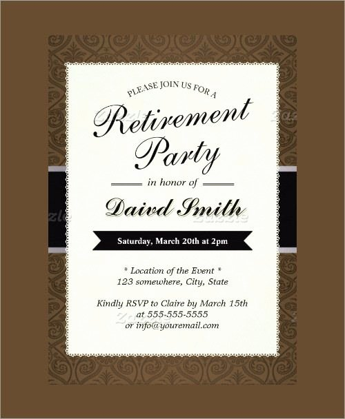 Free Retirement Party Invitation Templates for Word Luxury Free Retirement Party Invitation Templates for Word