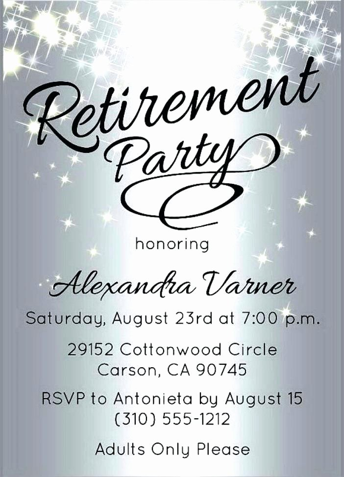 Free Retirement Party Invitation Templates for Word Unique Retirement Party Flyer Template Microsoft Word
