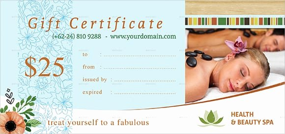 Free Salon Gift Certificate Template New 6 Free Gift Certificate Templates Excel Pdf formats