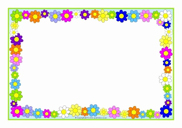 Free School Borders for Word Beautiful Flowers A4 Page Borders Sb Sparklebox