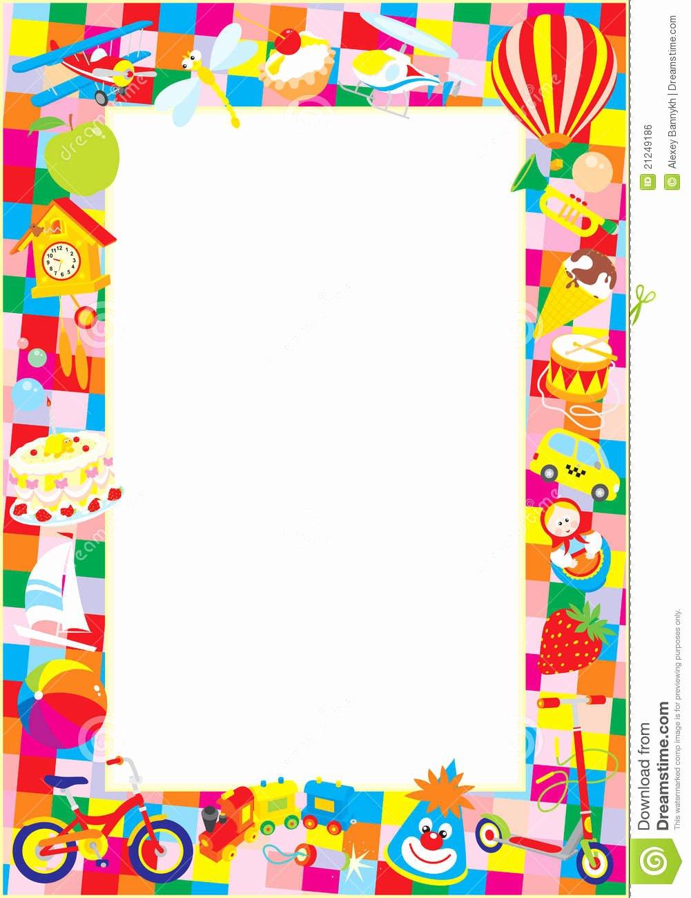 Free School Borders for Word Fresh Preschool Clipart Borders – 101 Clip Art