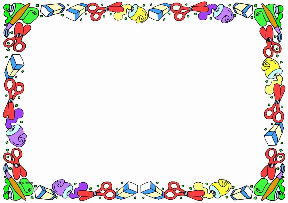 Free School Borders for Word Luxury Back to School themed Lined Paper and Pageborders