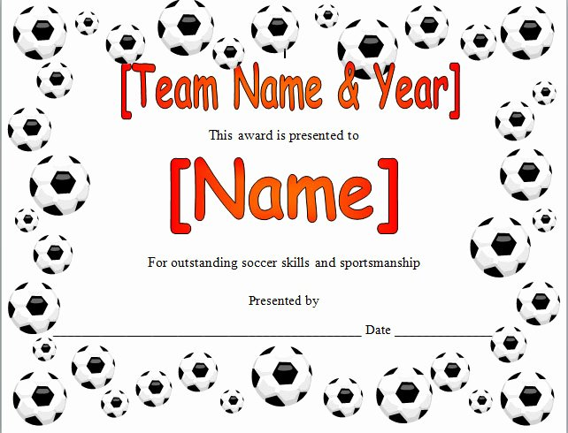 Free soccer Award Certificates Printable Lovely Best S Of Youth Sports Certificate Templates soccer