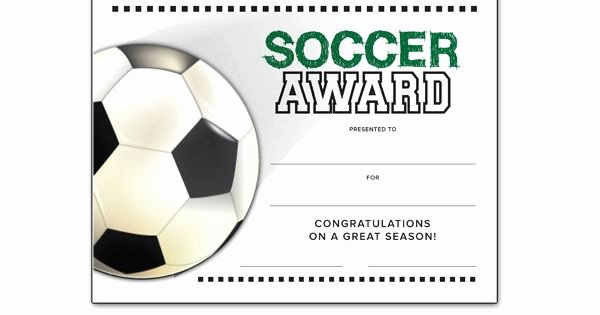 Free soccer Award Certificates Printable Lovely soccer End Of Season Award Certificate Free