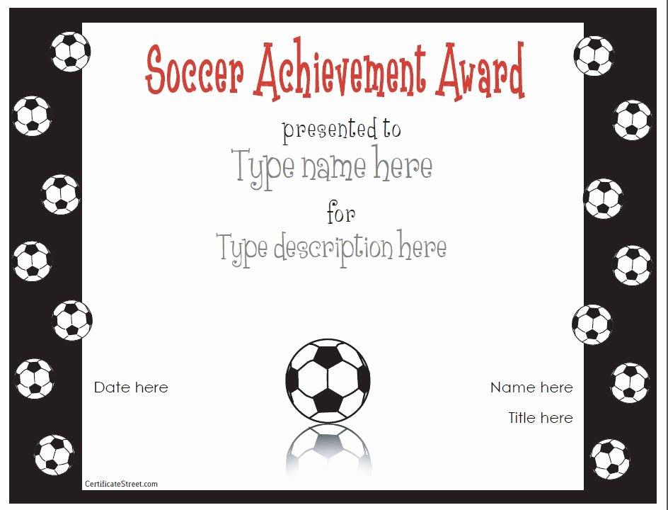 Free soccer Award Certificates Printable Unique Free Printable Award Certificate Template