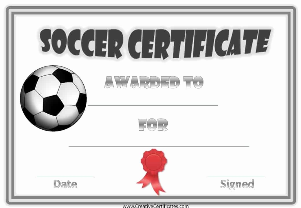 Free soccer Certificate Templates Beautiful Free Editable soccer Certificates Customize Line