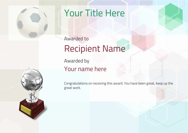 Free soccer Certificate Templates Beautiful Free soccer Certificate Templates Add Printable Badges