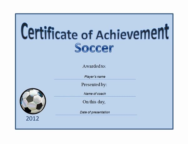 Free soccer Certificate Templates for Word Beautiful 13 soccer Award Certificate Examples Pdf Psd Ai