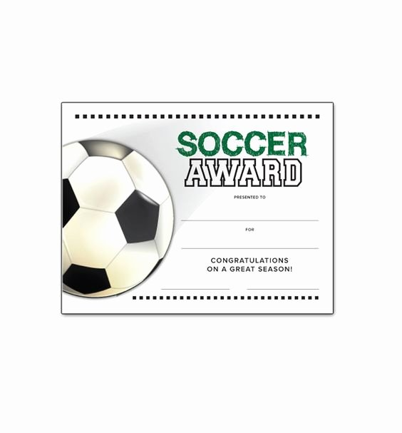 Free soccer Certificate Templates Fresh soccer End Of Season Award Certificate Free