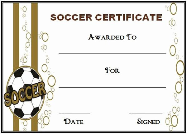 Free soccer Certificate Templates Inspirational Editable soccer Award Certificate Templates Free