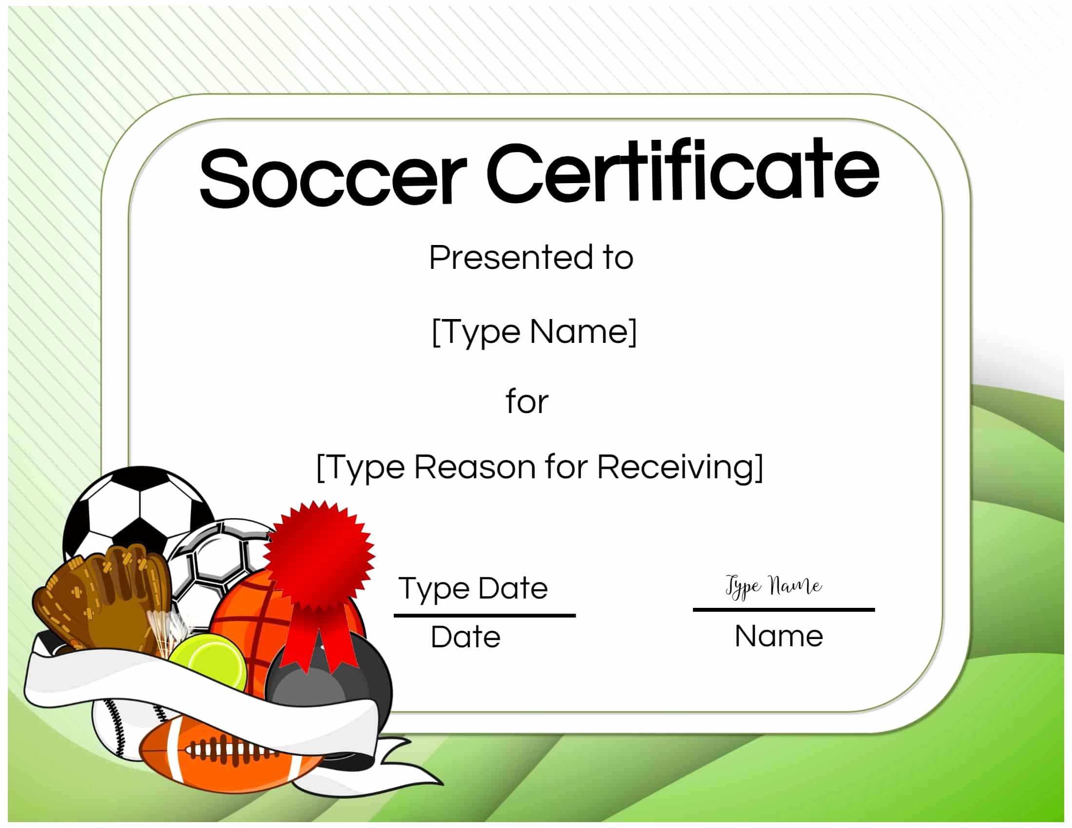 Free soccer Certificate Templates Unique Free soccer Certificate Maker