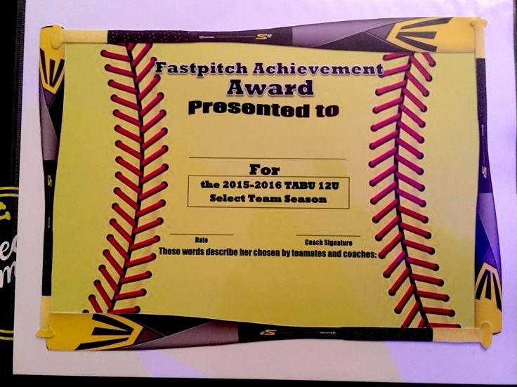 Free softball Certificate Templates Inspirational 39 Best softball Certificate Templates Images On Pinterest