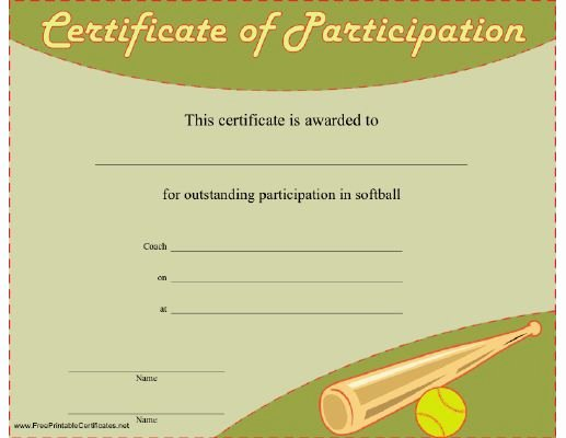 Free softball Certificates to Print Beautiful 71 Best Images About softball On Pinterest