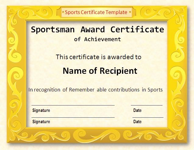 Free softball Certificates to Print Fresh 17 Sports Certificate Templates