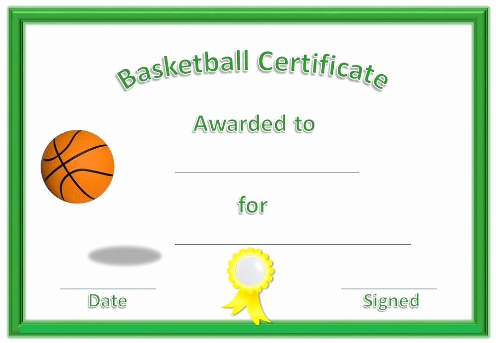 Free softball Certificates to Print Unique Basketball Award Certificate to Print